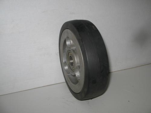 Alap kerék  fekete gumis golyóscsapágyas  150 mm