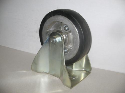 Fix álló kerék  fekete gumis golyóscsapágyas 150 mm