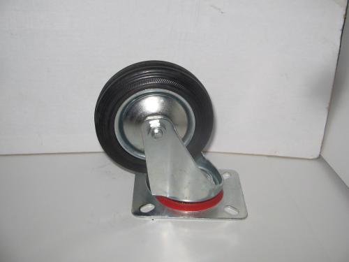 Forgó kerék  fekete gumis 100 mm
