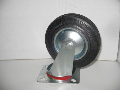 Forgó fekete gumis 125 mm kerék