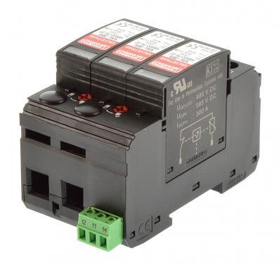 DC védelem, Phoenix Contact VAL-MS 1000DC-PV/2+V C típusú