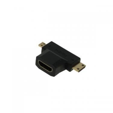 HDMI Adapter HDMI -ről Mini-HDMI / Micro-HDMI csatlakozó aranyozott