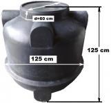 1.3. <> UNITANK - 1 m3-es műanyag szennyvíz tartály, lépésálló tetővel