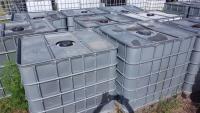 2. <> 1050 literes IBC tartály - áttetsző, fém borítással