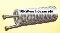 5. <> 10 kW-os rozsdamentes spirál bordásfalú hőcserélő