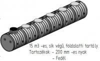 8.1. <> UNITANK - 15 m3 -es műanyag esővíz tartály, lépésálló tetővel