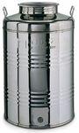 053. 50 L-es rozsdamentes acél bortartály / pálinkatartály, álló - OLASZ