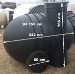 8.4 UNITANK 2G  szivattyú / szerelő akna - lépésálló  tetővel