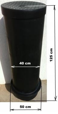 1.1 -  DN 400 szennyvíz átemelő akna, lépésálló tetővel