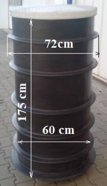1.1 - UNITANK ~ 0,5 m3-es szennyvíz átemelő akna, lépésálló tetővel