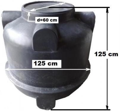 1.2 <> UNITANK - 1 m3-es műanyag esővíztartály,  lépésálló tetővel