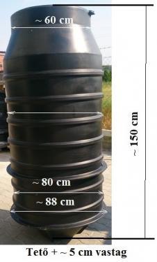1.6 - DN 800 K szennyvíz átemelő akna, lépésálló fedéllel - talajvizes