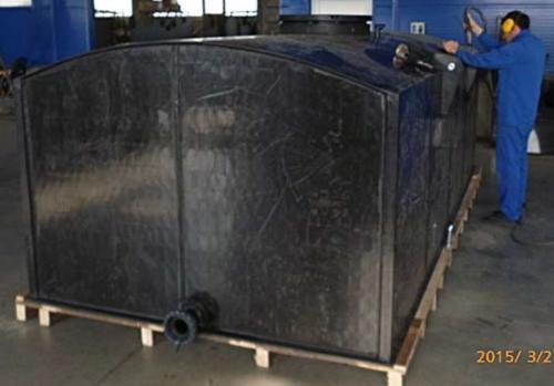 3. 12 m3-es PE. műanyag szögletes szállító tartály