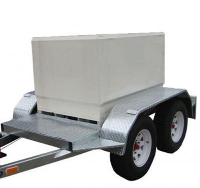 1.1 - 500 L-es - acél szállító tartály + utánfutó komplett