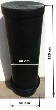 1. DN 400 -as vízóra akna lépésálló tetővel