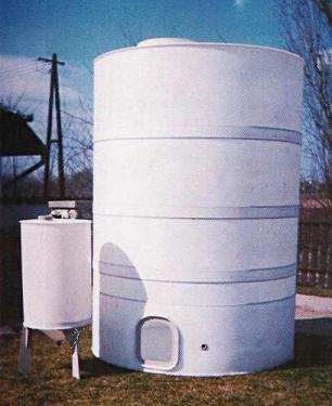 2.1. <> PPW/PEW - 2 m3-es műanyag ivóvíz tároló tartály+tető