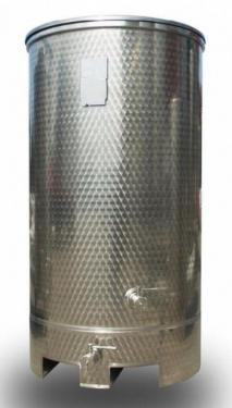 4.1. 1000 L-es, ÁLLÓ, rozsdamentes acél, hengeres szállító tartály