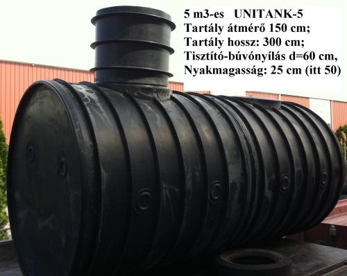 2.2 - UNITANK-5 F / 5 m3-es tűzi-víz tartály, lépésálló tetővel