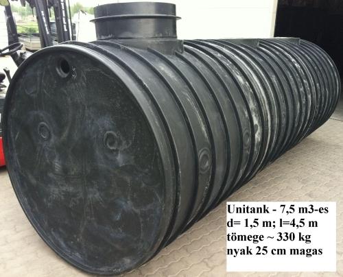 3.2 - UNITANK-7,5 F / 7,5 m3-es tűzi-víz tartály, lépésálló tetővel