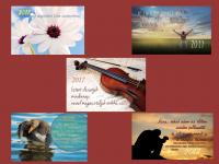 Kártya naptár / kerügmás-fekvő 2017