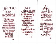 Könyvjelző Basilea Schlink - rövid gondolatok / fehér-bordó