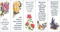 Könyvjelző / Halleluja-virágos