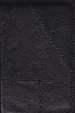 Bibliaborító  bőr varrott  zippzáros / K4