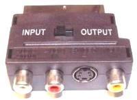 Scart-SVHS aljzat+3RCA aljzat, adapter