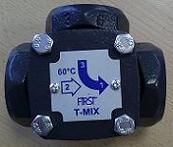 T-MIX termosztatikus keverőszelep DN25