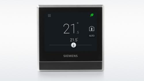 Siemens RDS110 érintőképernyős szobatermosztát