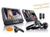 """Lenco DVP-939 2 x 9"""" dual DVD játszó autós szettel"""