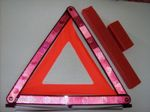 Elakadásjelző háromszög.