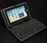 Tablet PC bőrtok 7 USB billentyűzettel