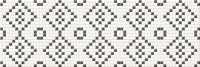 Opoczno Pret a Porter Black and White Mosaic Középdekor 25x75