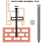 Fuchs turbo-csavar 7,5*182 mm
