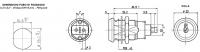 Giussani EG1 kulcsos kapcsoló egyenkulcsos