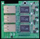 Jetway JAD3RTLANP 3 x 10/100 LAN bővítőlap