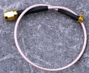 MMCX - RPSMA dugó pigtail 21 cm