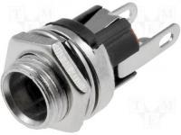 DC aljzat, szerelhető 2,1mm x 5,5mm