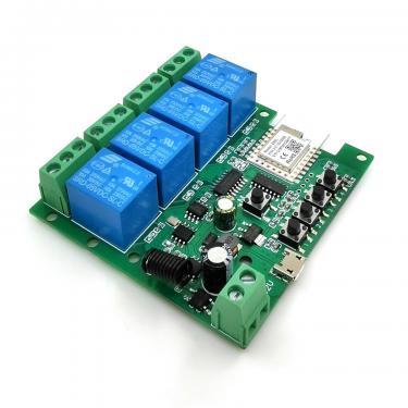 SmartWise Zigbee+RF relé 4 csatornás
