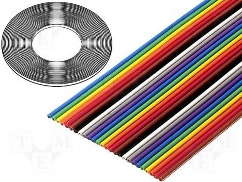 Szalagvezeték 1,27mm, sodrott, Cu, 10x28AWG, PVC 3M