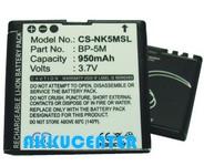 Nokia BP-5M  utángyártott akkumulátor. Posta díj 600 Ft
