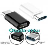 Micro USB to USB Type-C USB 3.1 adapter fehér vagy fekete
