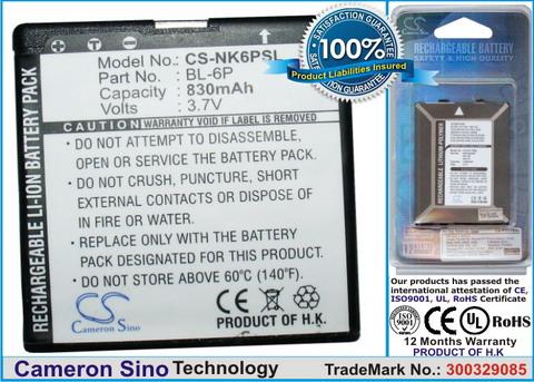 Nokia BL-6P Cameron utángyártott akku. Posta díj 600 Ft