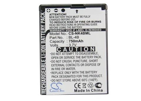Nokia BL-4B Cameron Sino utángyártott akku. Posta díj 600 Ft