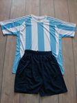 Argentin csíkos mezgarnitúra