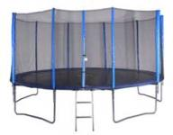 487 méter trambulin+védőháló
