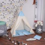 Gyerek sátor , wigwam kék csillaggal