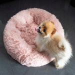 Nyugtató kutyaágy , macskaágy 70 cm halvány pink