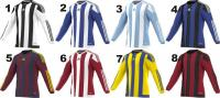 Adidas Striped hosszú ujjú futball mez